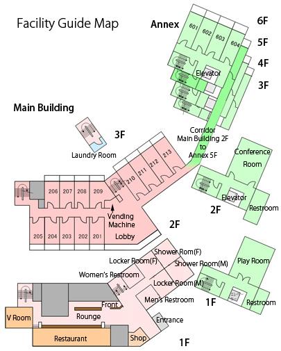 Floor Map of ClubVerde